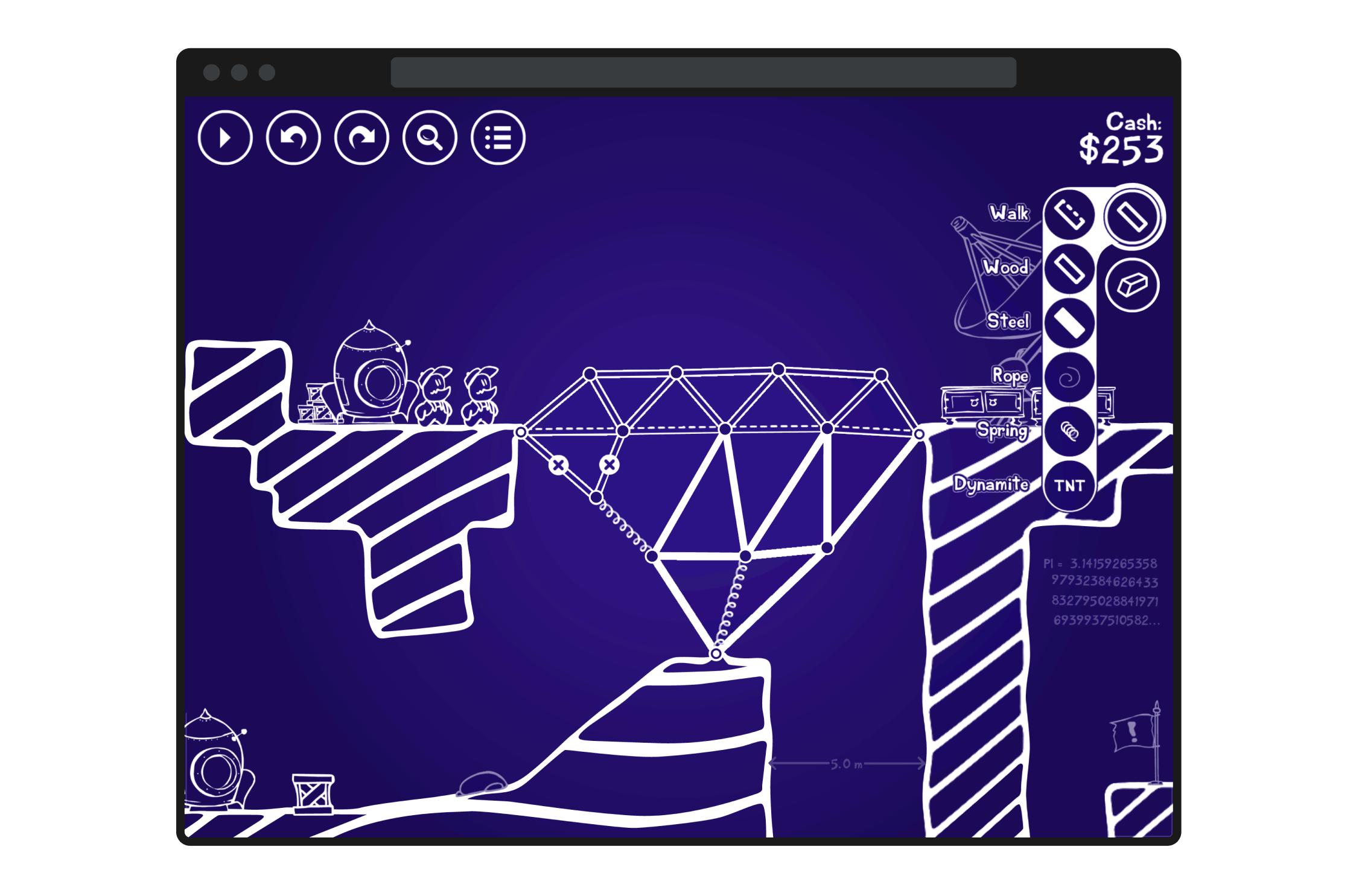 Cargo Bridge - Bridge designing mode