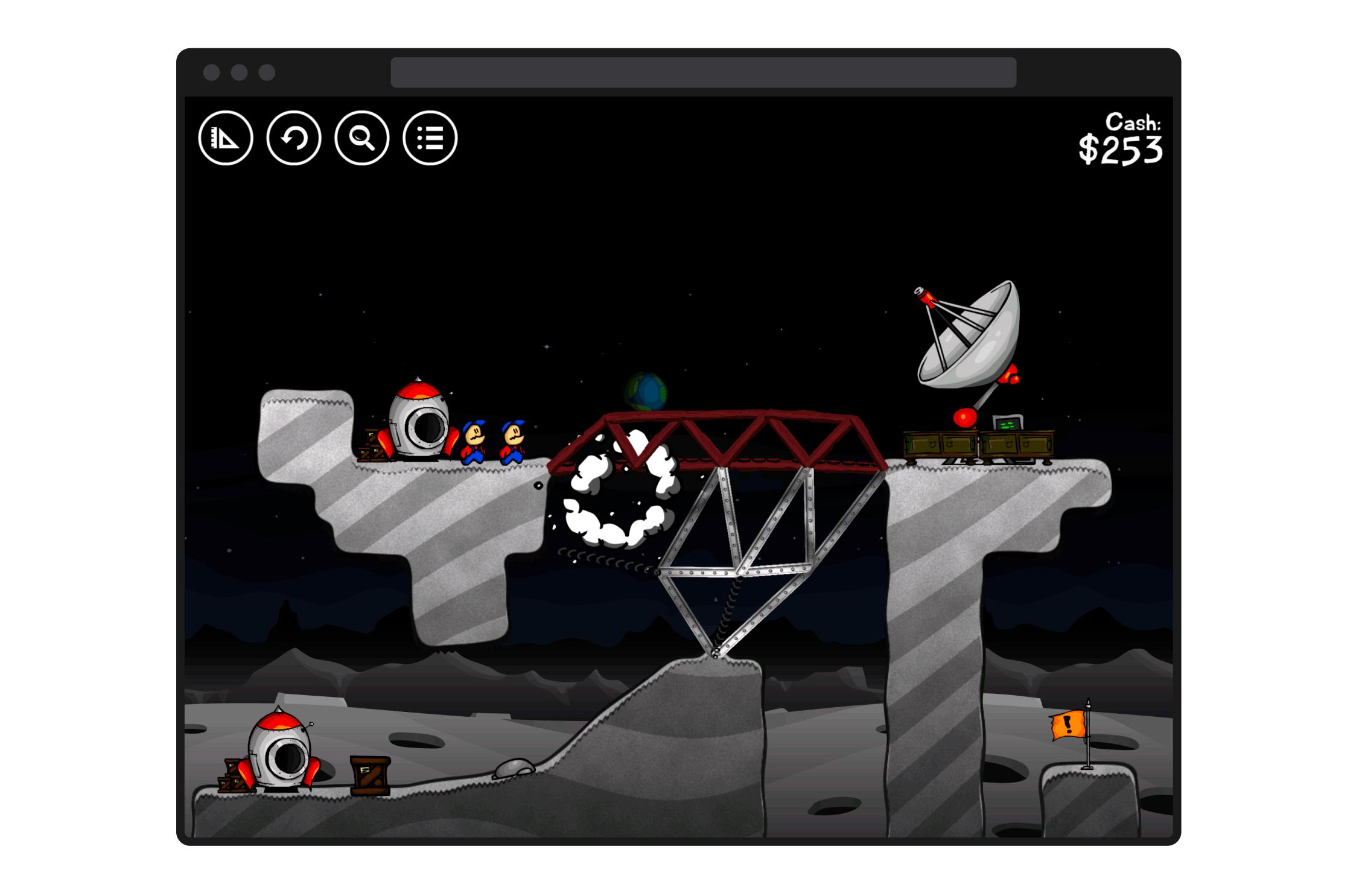 Gameplay screen for Cargo Bridge
