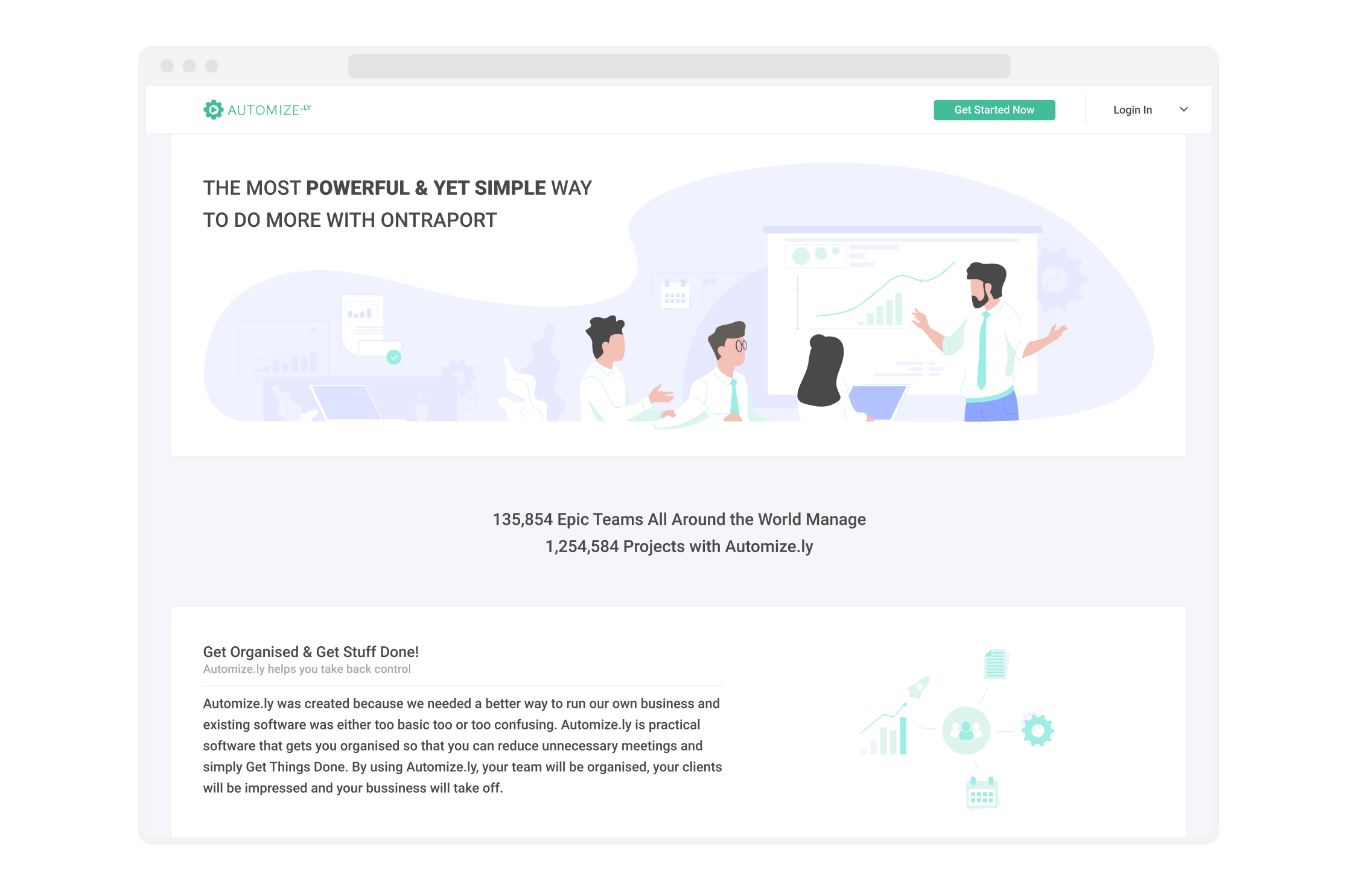 Landing page for Automizely, a marketing automation platform for e-commerce businesses