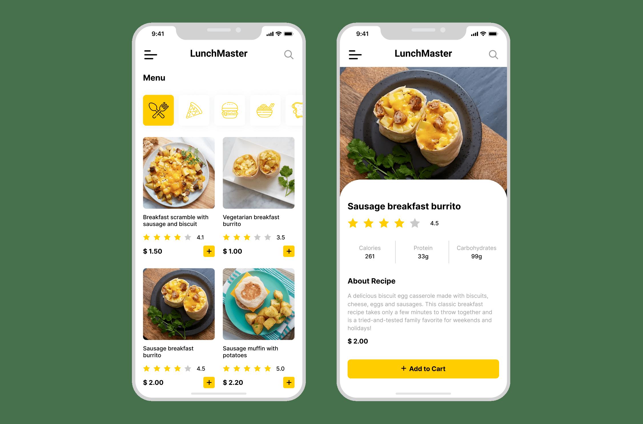 LunchMaster Mobile App Light