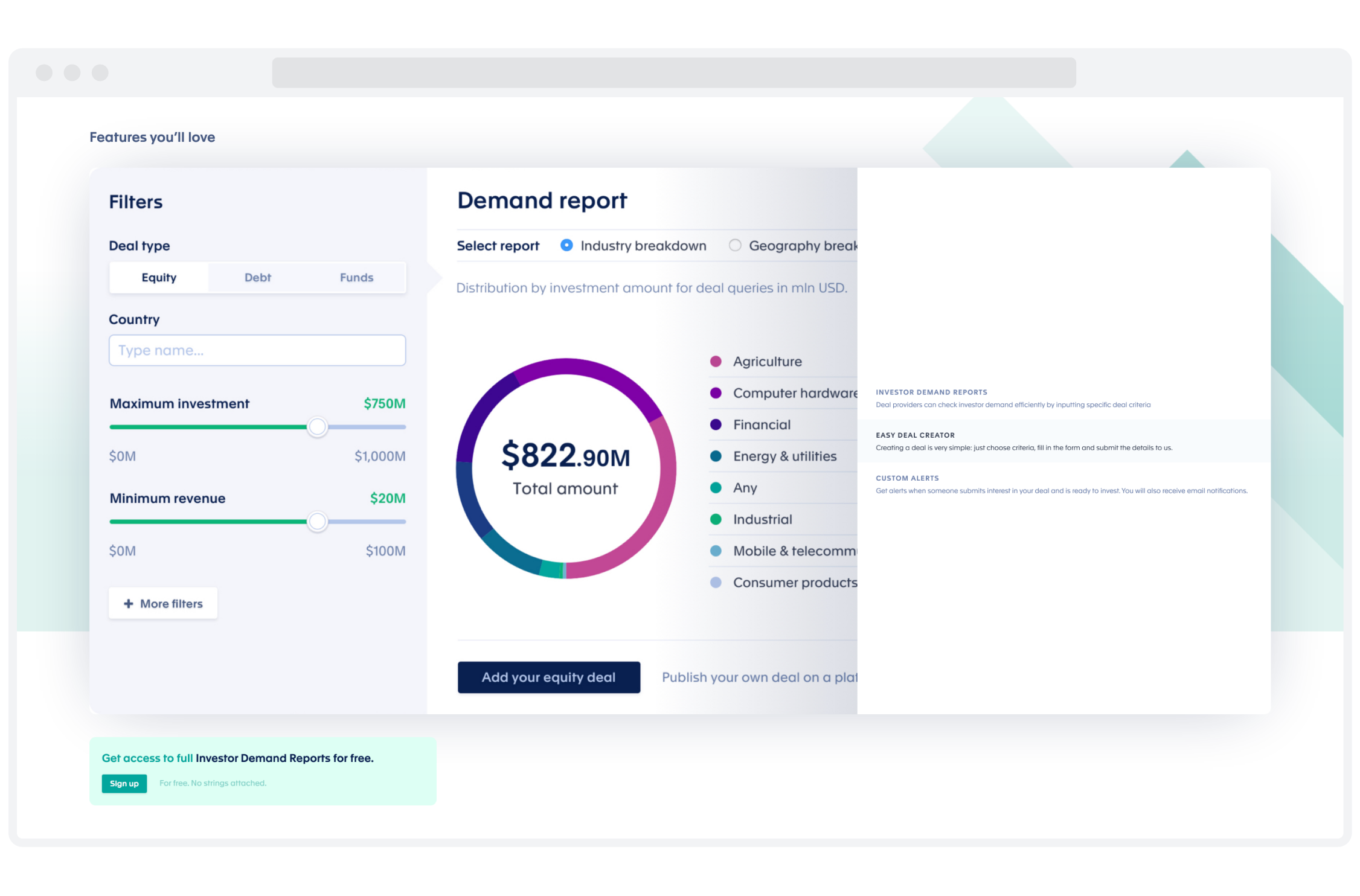 Automated Investments Platform Dashboard